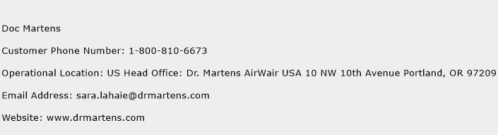 Doc Martens Phone Number Customer Service