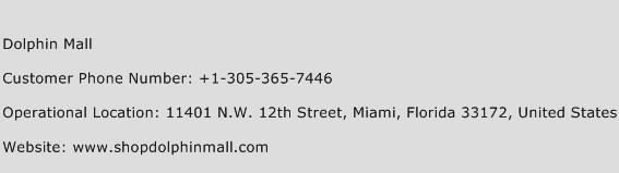 Dolphin Mall Phone Number Customer Service
