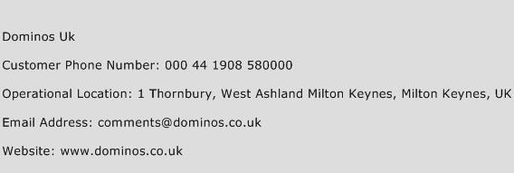 Dominos Uk Phone Number Customer Service