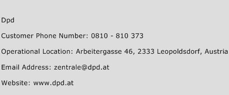 Dpd Phone Number Customer Service