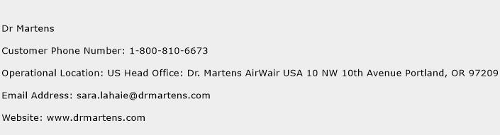 Dr Martens Phone Number Customer Service