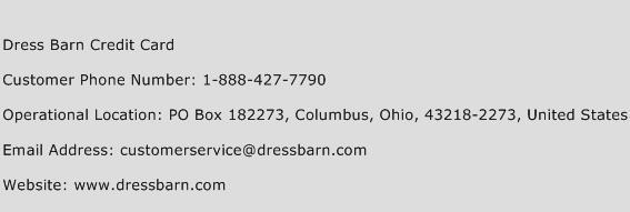 Dress Barn Credit Card Phone Number Customer Service