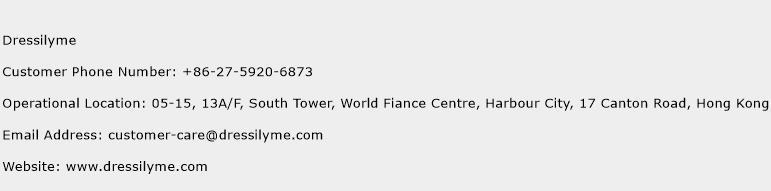 Dressilyme Phone Number Customer Service