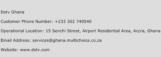 Dstv Ghana Phone Number Customer Service