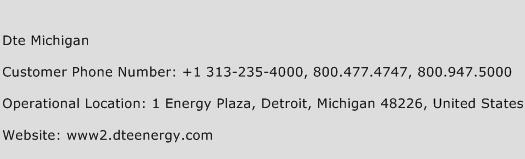 Dte Michigan Phone Number Customer Service