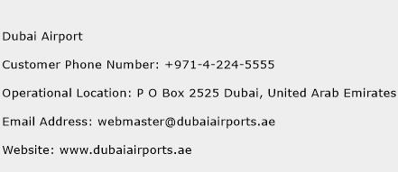 Dubai Airport Phone Number Customer Service