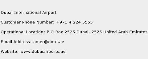 Dubai International Airport Phone Number Customer Service