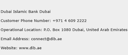 Dubai Islamic Bank Dubai Phone Number Customer Service