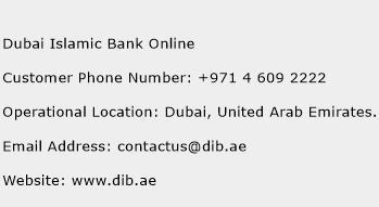 Dubai Islamic Bank Online Phone Number Customer Service