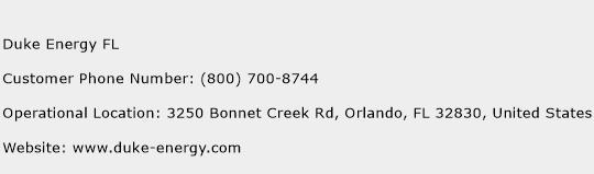 Duke Energy FL Phone Number Customer Service