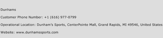 Dunhams Phone Number Customer Service