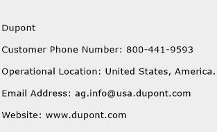 Dupont Phone Number Customer Service