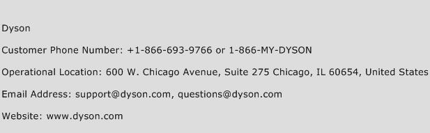 Dyson Phone Number Customer Service