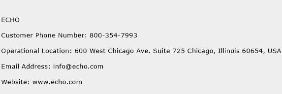 ECHO Phone Number Customer Service