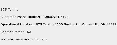 ECS Tuning Phone Number Customer Service