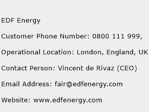 EDF Energy Phone Number Customer Service