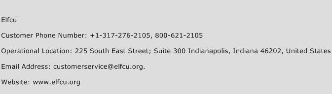 ELFCU Phone Number Customer Service