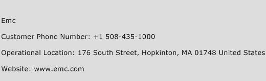 EMC Phone Number Customer Service
