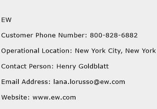 EW Phone Number Customer Service