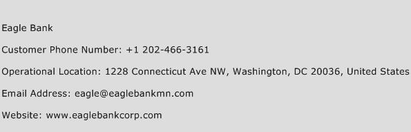 Eagle Bank Phone Number Customer Service