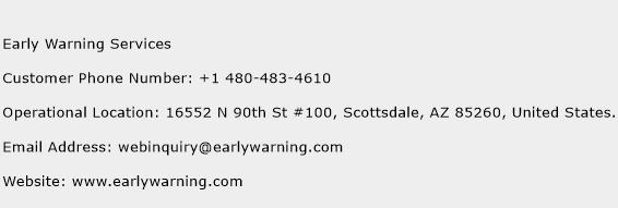 Early Warning Services Phone Number Customer Service