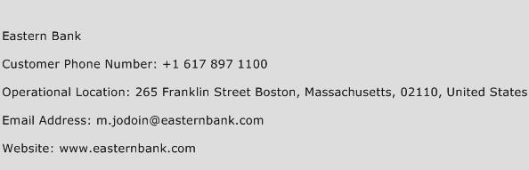 Eastern Bank Phone Number Customer Service