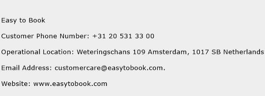 Easy to Book Phone Number Customer Service