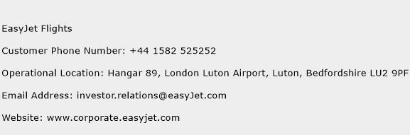 EasyJet Flights Phone Number Customer Service