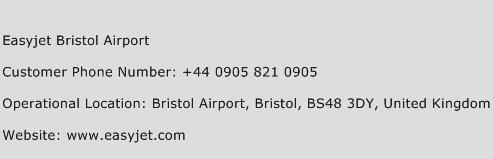 Easyjet Bristol Airport Phone Number Customer Service