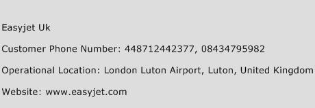 Easyjet UK Phone Number Customer Service