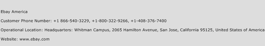Ebay America Phone Number Customer Service
