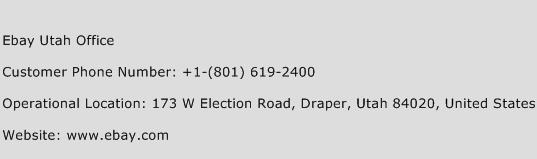 Ebay Utah Office Phone Number Customer Service