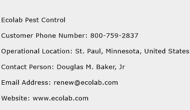 Ecolab Pest Control Customer Service Number | Toll Free Phone ...
