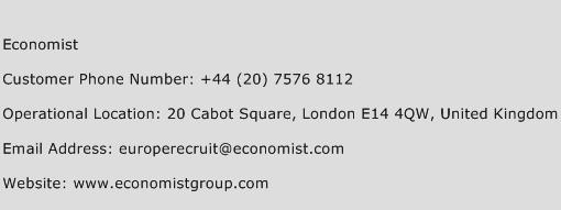 Economist Phone Number Customer Service