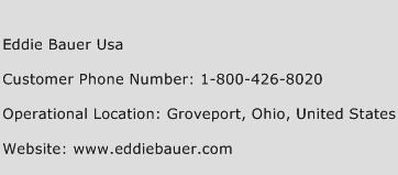 Eddie Bauer USA Phone Number Customer Service