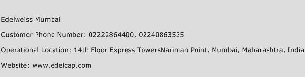 Edelweiss Mumbai Phone Number Customer Service