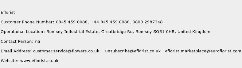 Eflorist Phone Number Customer Service