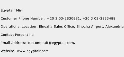Egyptair Misr Phone Number Customer Service
