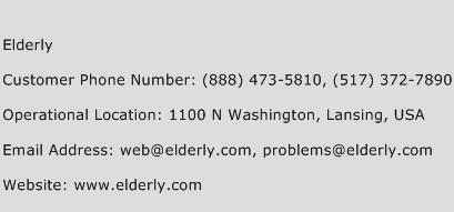 Elderly Phone Number Customer Service
