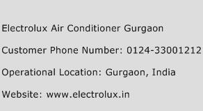 Electrolux Air Conditioner Gurgaon Phone Number Customer Service