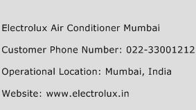 Electrolux Air Conditioner Mumbai Phone Number Customer Service