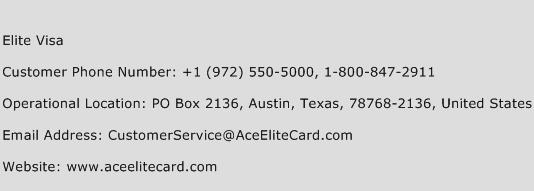 Elite customer service number
