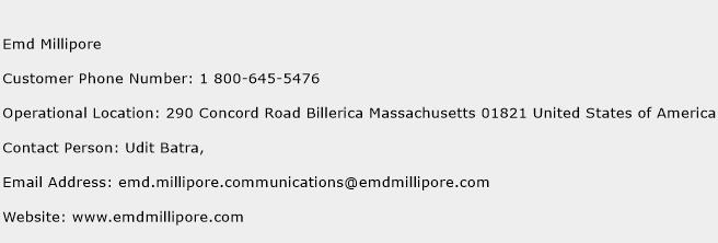 Emd Millipore Phone Number Customer Service