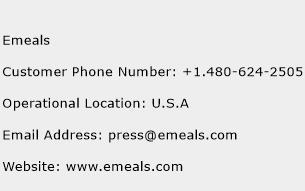 Emeals Phone Number Customer Service