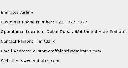 Emirates Airline Phone Number Customer Service