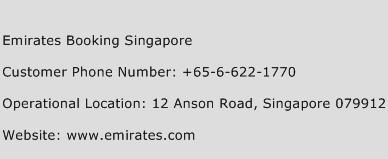 Emirates Booking Singapore Phone Number Customer Service