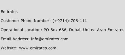 Emirates Phone Number Customer Service