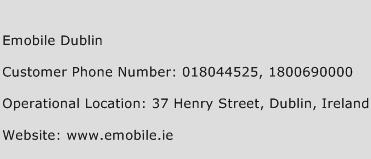 Emobile Dublin Phone Number Customer Service