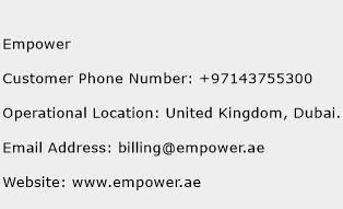 Empower Phone Number Customer Service