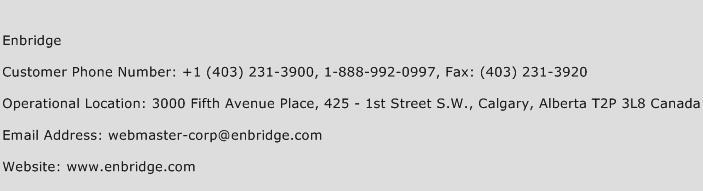 Enbridge Phone Number Customer Service